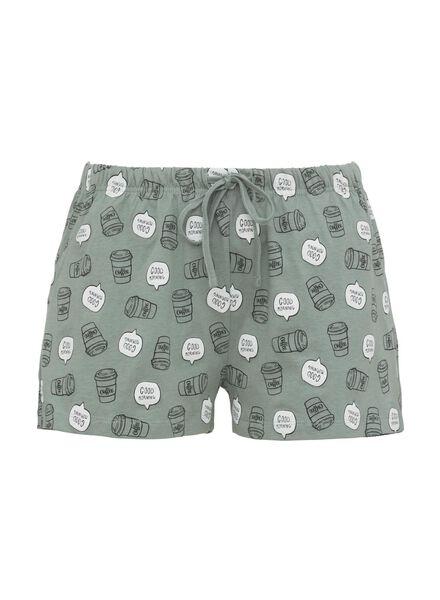 dames pyjama katoen groen groen - 1000011877 - HEMA