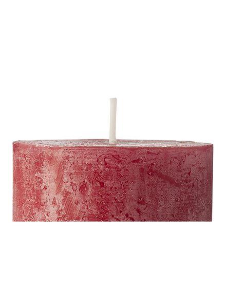 rustieke kaarsen donkerrood donkerrood - 1000015403 - HEMA