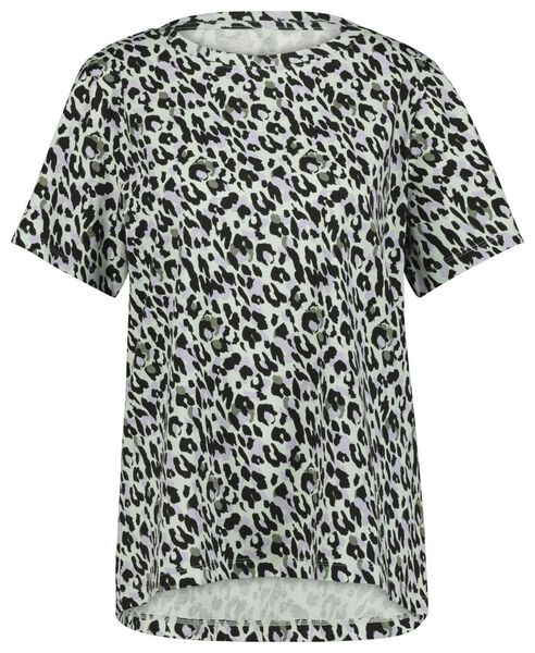 dames t-shirt animal lichtblauw L - 36228088 - HEMA