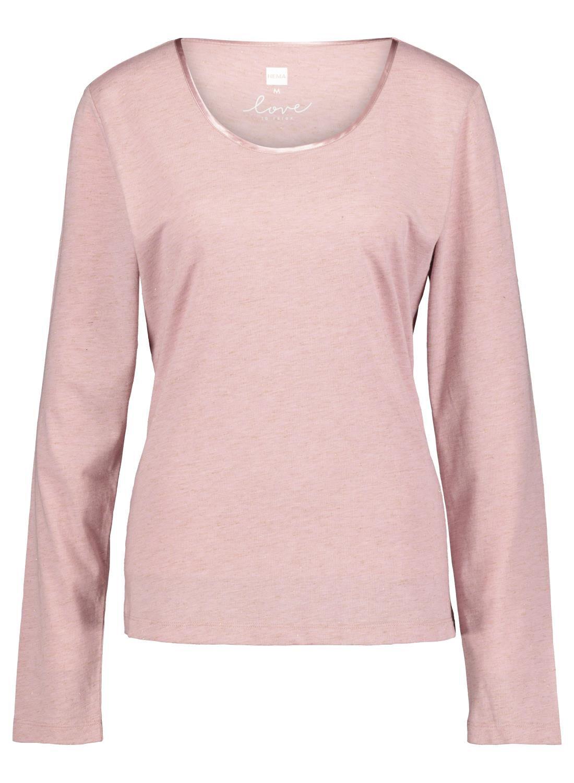HEMA Dames Nacht T-shirt Roze (roze)