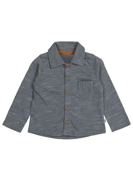 baby overhemd blauw blauw - 1000015558 - HEMA