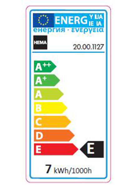 gloeilamp 7W - 21 lm - parfumlamp - helder - 20001127 - HEMA