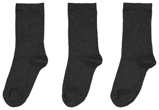 damessokken - 3 paar grijsmelange grijsmelange - 1000025216 - HEMA