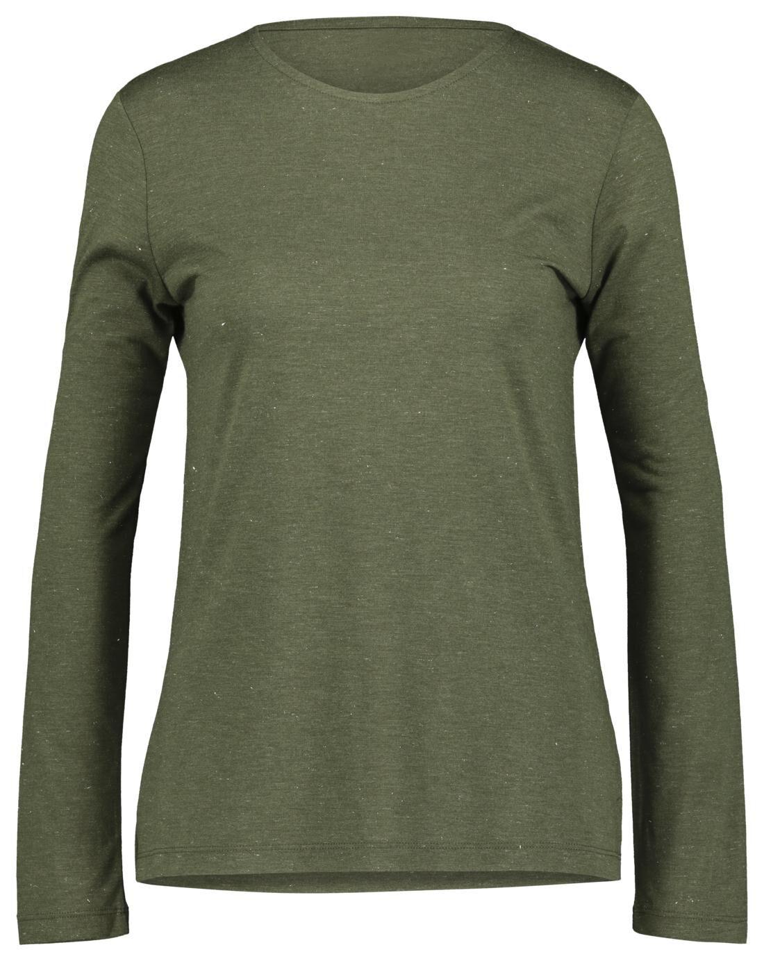 HEMA Dames T-shirt Met Glitter Olijf (olijf)