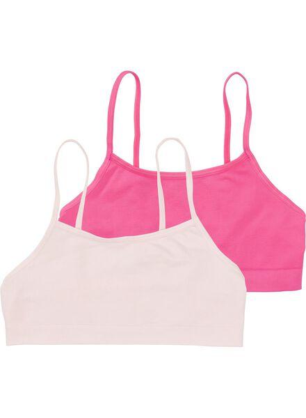 2-pak tiener soft tops roze roze - 1000009657 - HEMA