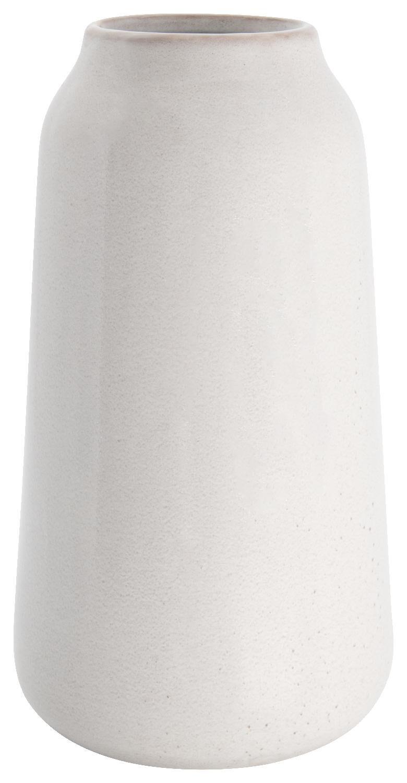 HEMA Vaas Ø15x28 Reactief Glazuur Wit (gebroken wit)