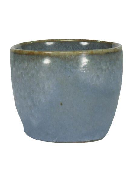 eierdop - 5 cm - Porto - reactief glazuur - blauw - 9602025 - HEMA