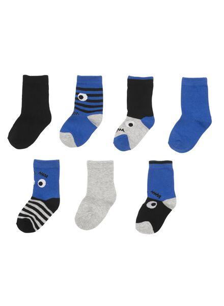 kinder enkelsokken blauw blauw - 1000009584 - HEMA