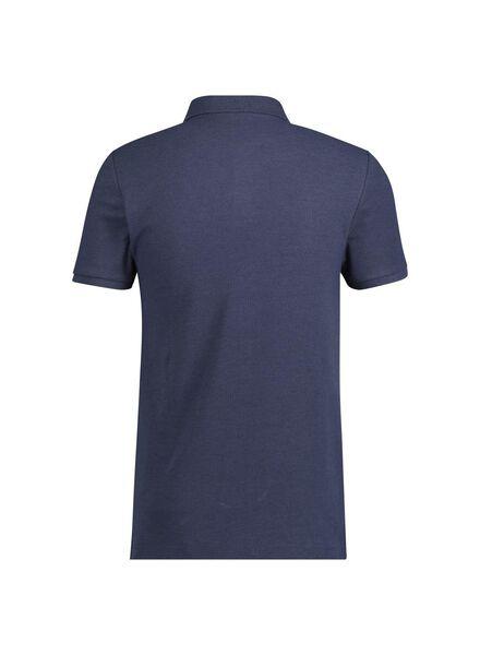 herenpolo blauw blauw - 1000014899 - HEMA