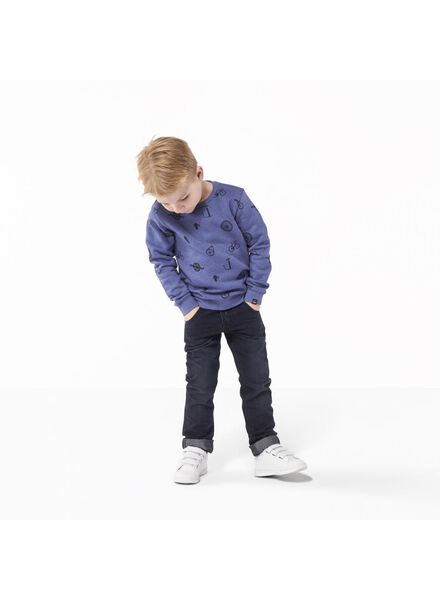 kindersweater middenblauw middenblauw - 1000011334 - HEMA