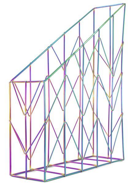 tijdschriftencassette metaal iriserend - 14835704 - HEMA