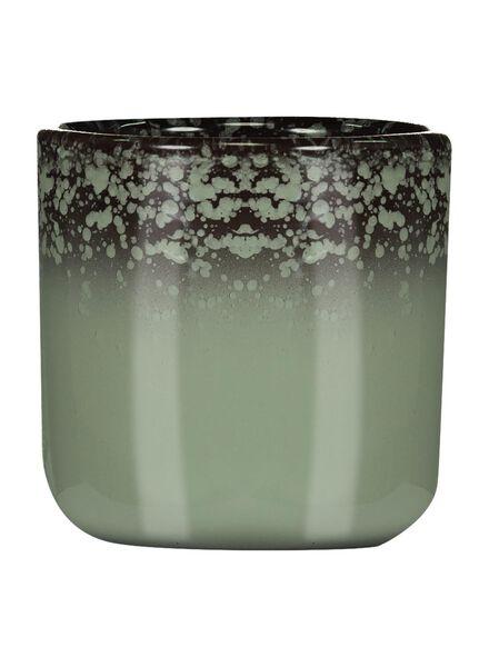 bloempot Ø 6 cm - reactief glazuur - groen - 13391061 - HEMA