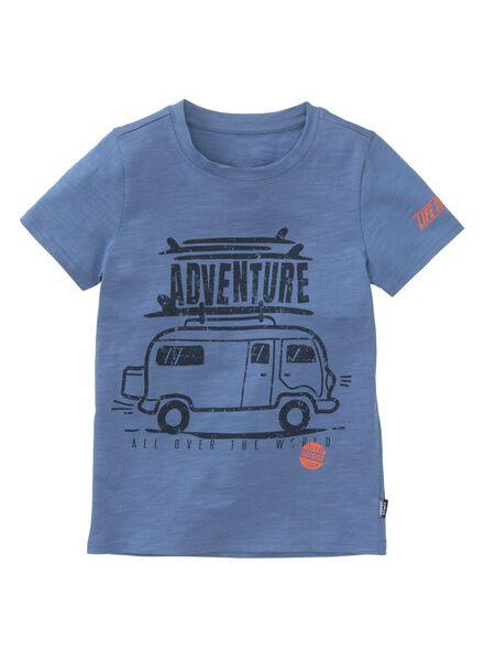kinder t-shirt blauw blauw - 1000013292 - HEMA