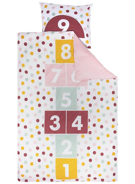 kinderdekbedovertrek - 140 x 200 cm - hinkelbaan roze - 5740018 - HEMA