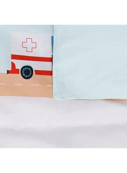 peuterdekbedovertrek - 120 x 150 cm - verkeerspel blauw - 5740016 - HEMA