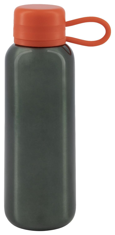 HEMA Waterfles 300ml Rvs Groen/rood