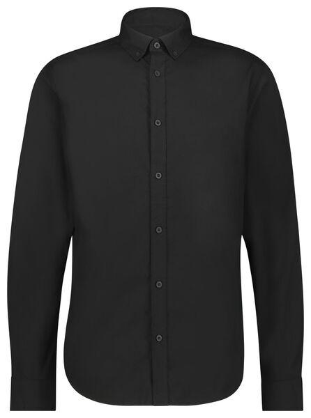 herenoverhemd zwart zwart - 1000021281 - HEMA