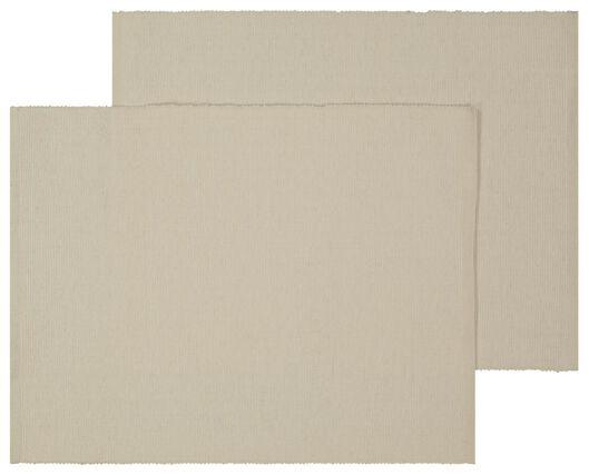 placemats 24x42 katoen beige - 2 stuks - 5390012 - HEMA