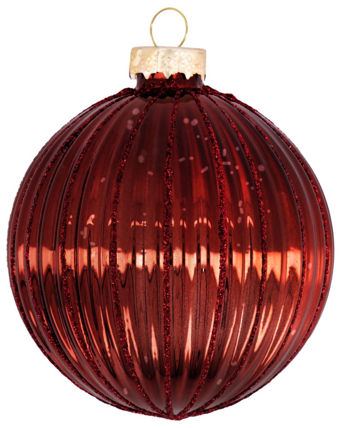HEMA Kerstbal Glas Rood