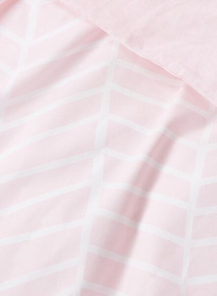dekbedovertrek - zacht katoen - 200 x 200 cm - roze print - 5750002 - HEMA
