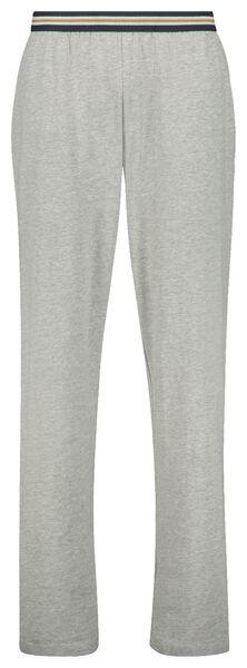 heren pyjamabroek katoen stretch grijsmelange M - 23678462 - HEMA