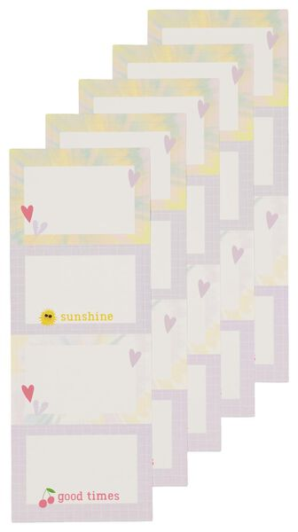 etiketten tie dye - 20 stuks - 14590356 - HEMA