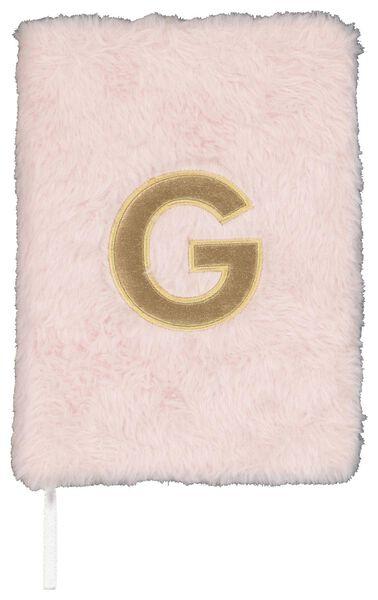 Notitieboek A5 fluffy letter G
