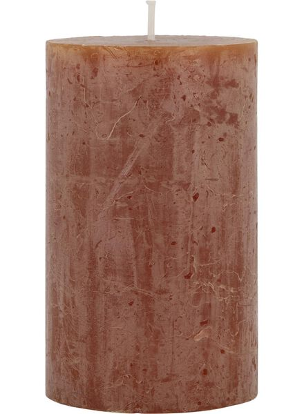 rustieke kaars - 8 x 5 cm - bruin lichtbruin 5 x 8 - 13502410 - HEMA
