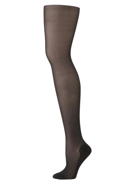 comfort panty matt-mousse 30 denier zwart 44/46 - 4042367 - HEMA