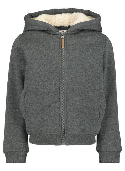 kindervest grijsmelange grijsmelange - 1000016675 - HEMA