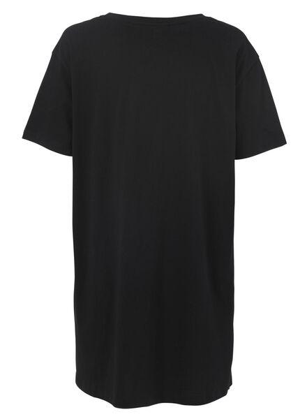 dames nachthemd katoen zwart zwart - 1000011753 - HEMA
