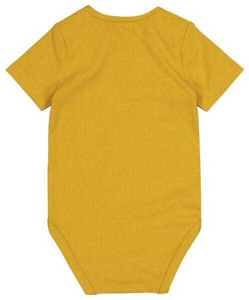 romper biologisch katoen stretch geel geel - 1000017813 - HEMA