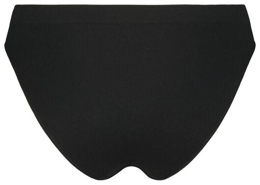 damesslip rib naadloos zwart zwart - 1000021764 - HEMA