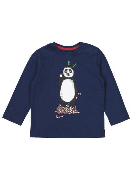 babypyjama kerst donkerblauw donkerblauw - 1000016980 - HEMA