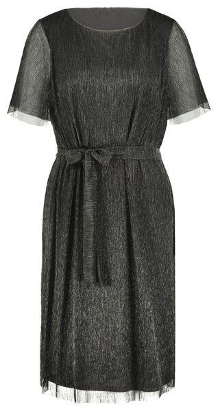 damesjurk plissé zwart XL - 36232569 - HEMA