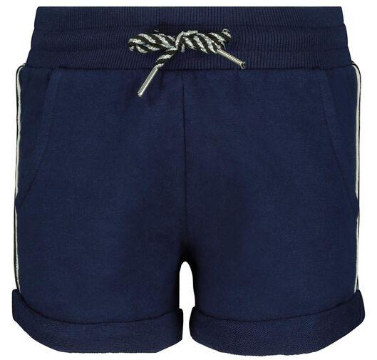 kinder sweatshort donkerblauw 146/152 - 30855769 - HEMA