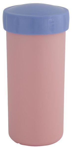 drinkbeker met deksel 300ml roze - 80640012 - HEMA