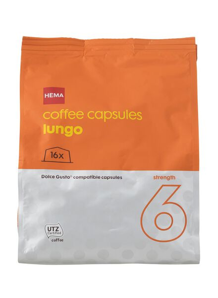 koffiecups lungo - 16 stuks - 17110022 - HEMA