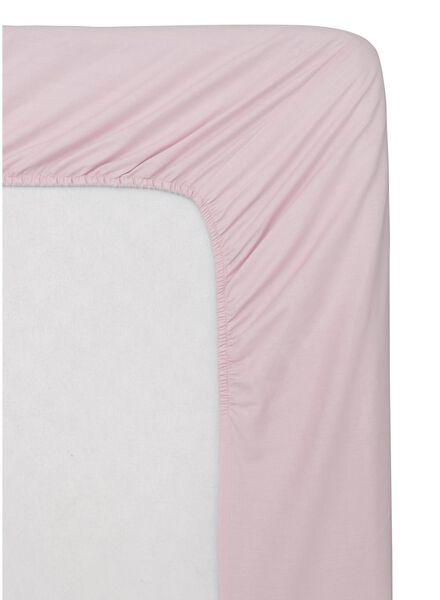 hoeslaken - zacht katoen roze roze - 1000014007 - HEMA