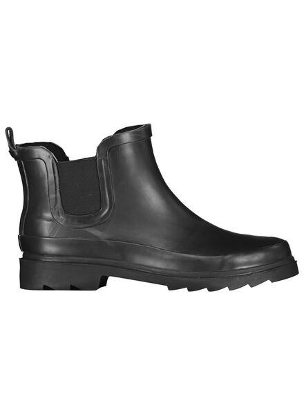 regenlaarzen voor volwassenen - laag zwart zwart - 1000014737 - HEMA