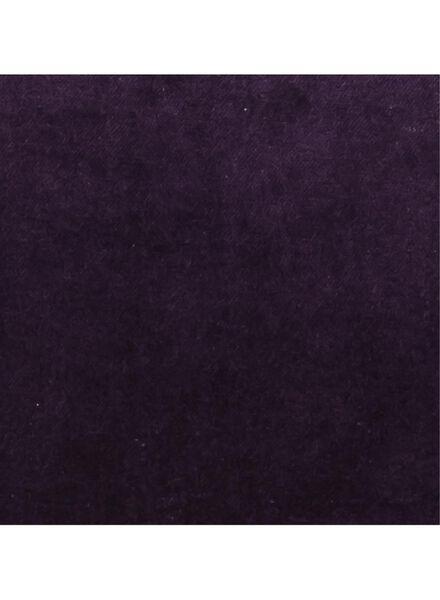 kussenhoes - 50 x 50 - paars velours - 7380020 - HEMA
