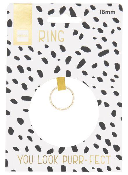 ring kat - goudkleurig - 60500541 - HEMA