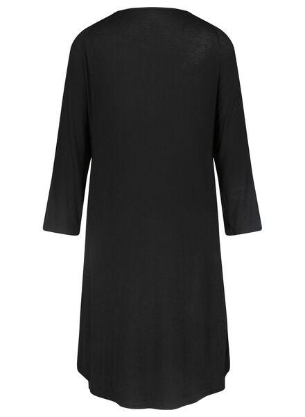 dames nachthemd zwart XL - 23466184 - HEMA