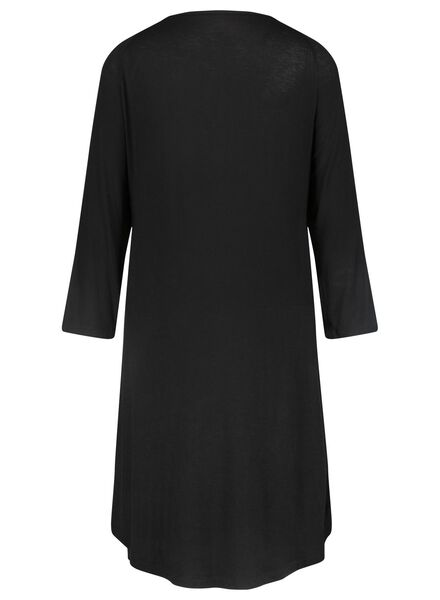 dames nachthemd zwart zwart - 1000015505 - HEMA