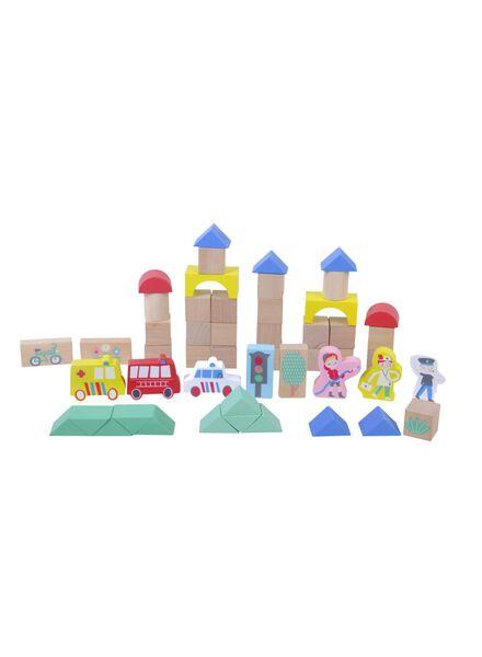 houten blokkenset stad - 15110270 - HEMA