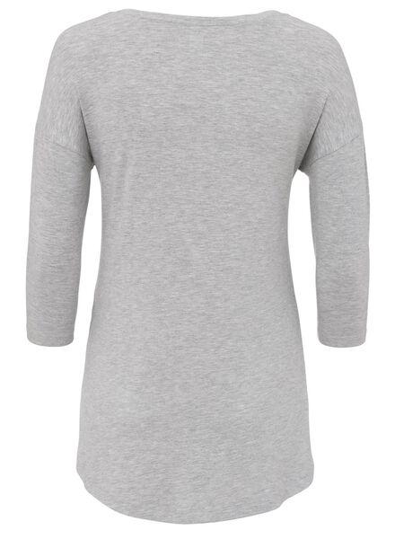 dames nachthemd grijsmelange grijsmelange - 1000008536 - HEMA