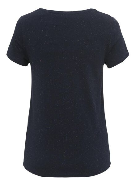 dames t-shirt donkerblauw donkerblauw - 1000004981 - HEMA