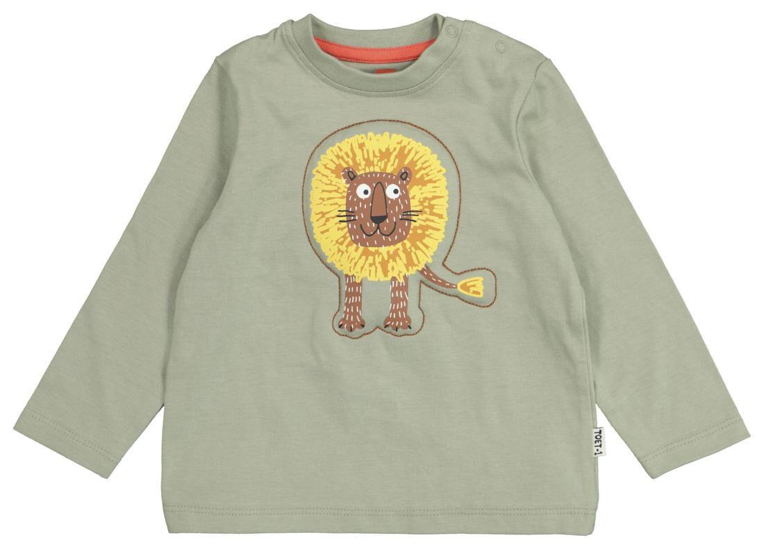 HEMA Baby T-shirt Olijf (olijf)