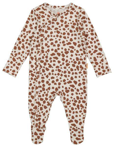newborn jumpsuit rib met bamboe gebroken wit gebroken wit - 1000022076 - HEMA