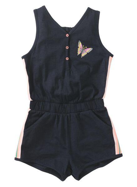 kinder jumpsuit donkerblauw donkerblauw - 1000013063 - HEMA